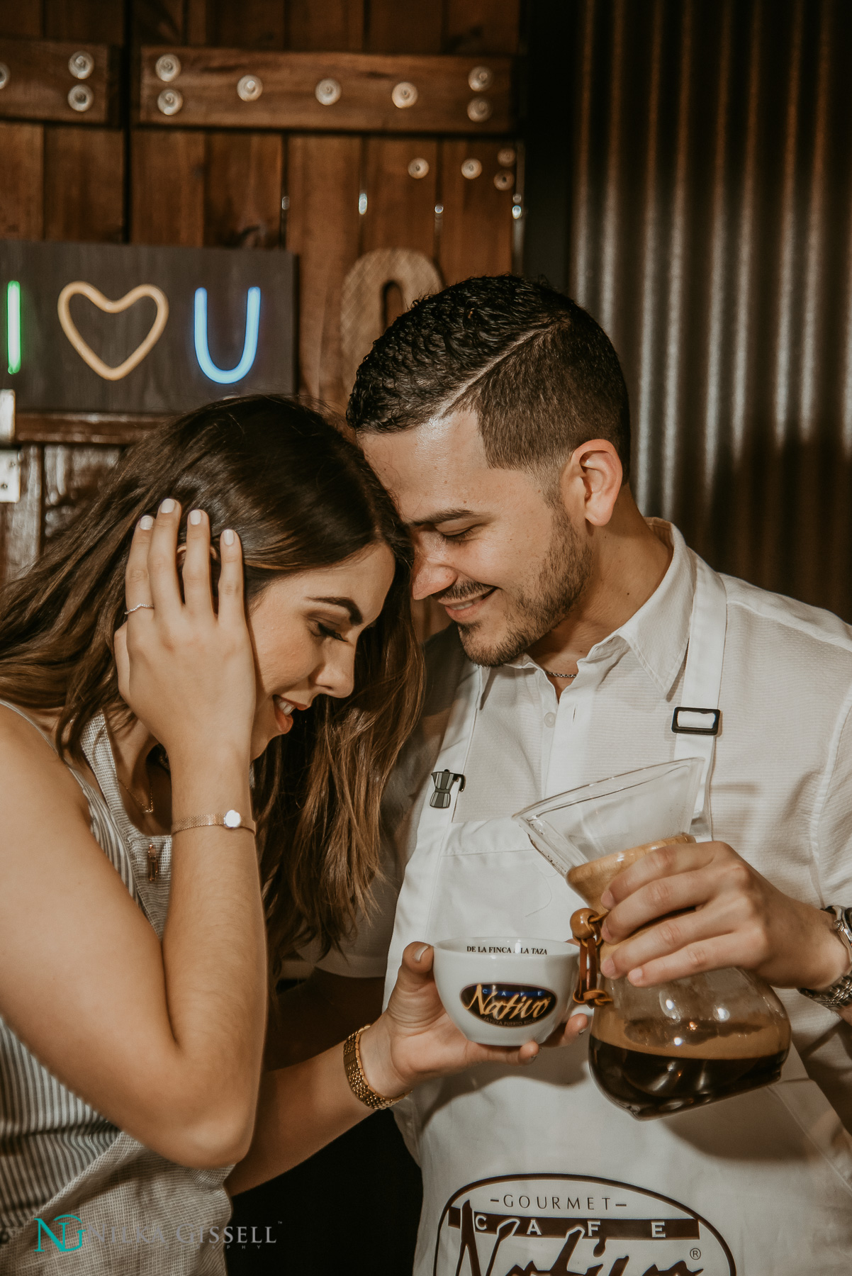 Cafe Nativo Coffee Themed Engagement Session in Puerto Rico